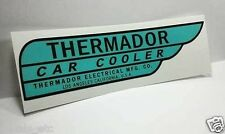 Thermador Car Cooler Sticker, LEFT HAND DRIVE, evaporative swamp cooler decal