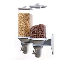 CEREAL,CANDY, DRY FOOD DISPENSER ( Wall Mounted Double) 13Lt containers - H400