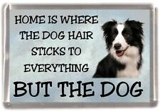 "Border Collie Dog Fridge Magnet ""Home is Where"" Design by Starprint"