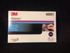 """3M 1000 GRIT Wet or Dry Black Sandpaper 5.5""""x 9"""" Sanding (Sheet 50/box) 3M-02021"""
