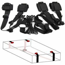 Black Under Bed Restraint System Bondage Cuffs Strap Set Kit Adult Sex Sexy Toys