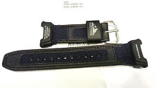 Genuine Casio Replacement Band Pathfinder PAG240B-2  black leather w blue