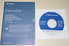Sony Cybershot DSC-S950 S980 Digital Camera Instruction Manual Computer Software