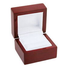 12 Cherry Rosewood Solid Wood Ring Jewelry Box