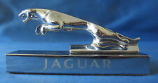 JAGUAR LEAPING CAT MASCOT MOUNTED ON CHROME BASE CAT1