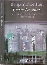 Benjamin Britten, Owen Wingrave, an opera in two acts, Op.85 full score