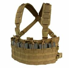 CONDOR MOLLE Rapid Assault Rifle Mag Holder Chest Rig mcr6-498 COYOTE BROWN