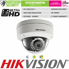 UK MODEL HIKVISION DS-2CD2132F-I 6mm 3MP 2MP 1080P Dome Onvif HD IP Camera POE