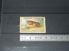 VIGNETTE CHOCOLAT POULAIN 1932 FRANCE CARNASSIERS & ANIMAUX SAUVAGES TIGRE