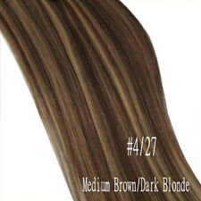 """100% Real Cheap 20"""" 22"""" Clip In Remy Human Hair Extensions Full Head US Stock A4"""