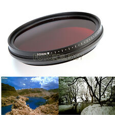 Adjustable Infrared Infra-Red IR Pass X-Ray Lens Filter 72mm 530nm to 720 750nm