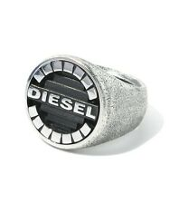 DIESEL MEN'S POLISHED STAINLESS STEEL MCMLXXVIII  RING DX0655 Sz. 10