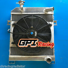 aluminum  radiator&Fan FOR JAGUAR MK1/MK2 MK I/II S-TYPE SALOON M/T 1955-1967