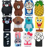 New 3D Cute Cartoon Soft Silicone Back Rubber Case Cover for Various Cell Phone