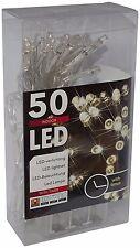 LED Lichterkette Batterie 50 Lämpchen mit Timer warmweiß batteriebetrieben Deko