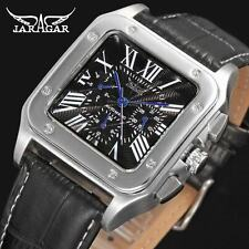 Mejor reloj de pulsera de cuero más nuevo anuncio reloj automático para hombre