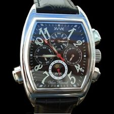 AUTOMATIC MENS VAAN KONRAD KORSAIR NOIR 21 JEWEL SUN/MOON DIAL WATCH BLACK FACE