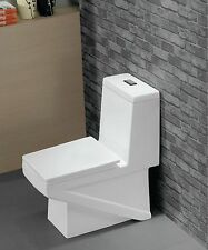 One Piece Toilet - Modern Bathroom Toilet - Dual Flush Toilet - Lucido - 27.6""