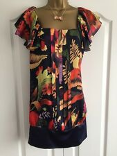 Ladies Ted Baker Multi-Coloured Floral Dress/Tunic Size 2 (10)