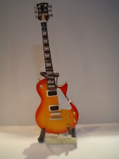 Miniature Guitar (24cm Tall) : MARK KNOPFLER LES PAUL CHERRY SUNBURST
