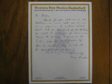 GREG GRAHAM  Signed  1984 Personal Letter-- Western New Mexico Men's Basketball