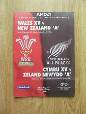 Wales XV v New Zealand A 2000 Rugby Programme
