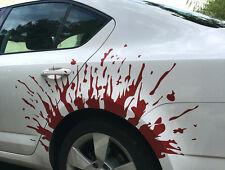 Auto Aufkleber Folierung Blut Tropfen mit Spritzer
