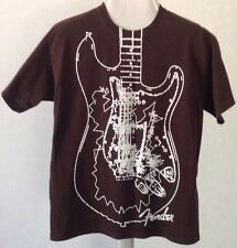 Fender Guitar Tee Shirt Size M  Screened T-Shirt by Hard Rock Cafe