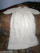 "Antique Vintage Baby Infant Clothes. 25"" Christening Gown"