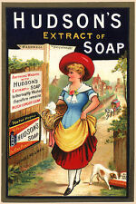 Vintage  Advertising poster  A4 Photo RE PRINT  Hudsons Extract of Soap (02)