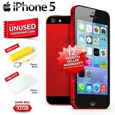 New in Sealed Box Factory Unlocked APPLE iPhone 5 Dark Red 32GB 4G Smartphone