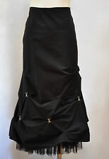 Victorian Goth Bustle Gathered Hook and eye bubble skirt by Stiletto size 8