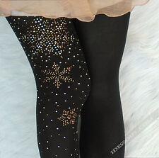 Sexy Muster Strumpfhose Schnee mit Schmuck verziert Schwarz Weihnachten XS S M