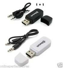 1+1 USB Bluetooth Stereo Music Receiver 3.5mm Adapter Dongle Speakers Car Mp3