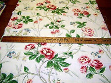 2 RICHLOOM IVORY W/ FLORAL PRINT COTTON DUCK FABRIC PCS upholstery