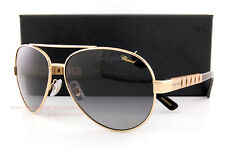 New Chopard Sunglasses SCH B12 300P Gold Black/Gradient Grey For Men