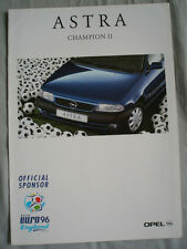 Opel Astra Champion II brochure Jan 1996 German text