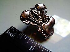 Knucklehead Motor Pin Vintage Harley Motorcycle Badge Classic Biker Club Vest