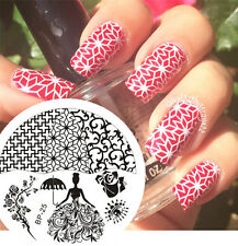 BORN PRETTY Nail Art Stamping Plate Rose Queen Theme Image Stamp Template   #25