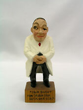 SCHMID LINDER WOOD CARVED FIGURE  SKIN DOCTOR DERMATOLOGIST  LUCERNE SWITZERLAND
