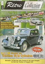 RETRO COLLECTION 54 DOSSIER CITROEN TRACTION 15 SIX PEUGEOT 403 L FAMILIALE