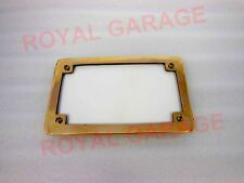 UNIVERSAL MOTORCYCLE ROYAL ENFIELD HARLEY CHOPPER BOBBER BRASS REAR NUMBER PLATE