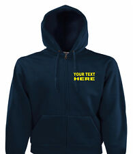 Personalised Custom Printed Zip Up Hoodies, Quality Work Wear, Small - XXL
