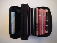 Credit Card Holder/Wallet/Purse.Soft Leather,Zip Round Concertina.Brand New.Sale