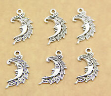 Free shipping 10pcs lifelike Moon alloy jewelry pendant