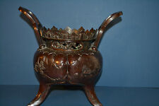 Large Antique 19th Century Japanese Meji Period Bronze Incense Burner/Bowl,c1880