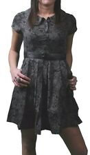 Iron Fist Black Barrio Muertes Sugar Skull Day of the Dead Goth Dress Small NWT