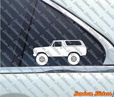 2X Lifted offroad truck sticker -for Ford Bronco (1978, 1979) offroad classic V1