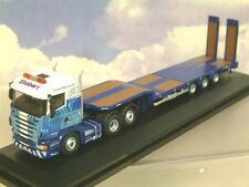 OXFORD 1/76 SCANIA HIGHLINE NOTEBOOM 3-AXLE LOW LOADER STOBART RAIL 76SHL01ST
