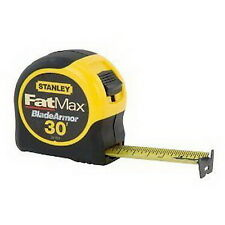 "New Stanley 33-730 30' x 1 1/4"" FatMax Measuring Tape BladeArmor Coating"